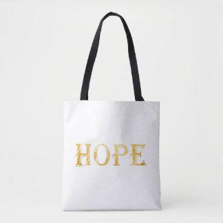 Goldene Hoffnungs-Text-Taschen-Tasche Tasche