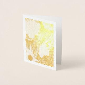 Goldene hölzerne Nymphe Folienkarte