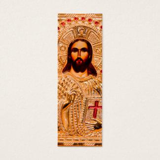 Goldene Ikone des Jesus Christus Mini Visitenkarte