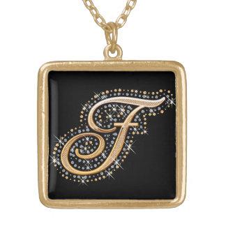 Goldene Initiale F - Halskette