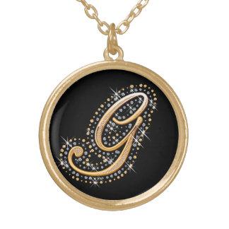 Goldene Initiale G - Halskette