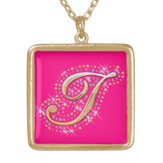 Goldene Initiale I - Halskette
