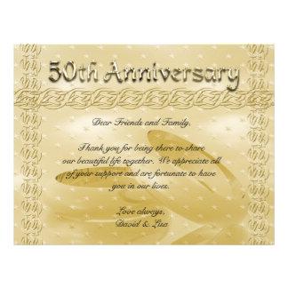 Goldene Jahrestags-Bänder des Liebe-Sets 21,6 X 27,9 Cm Flyer