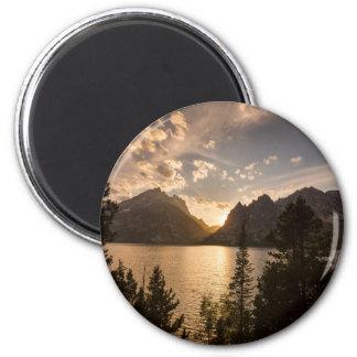 Goldene Jenny See-Ansicht Runder Magnet 5,7 Cm