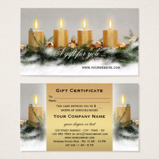 Goldene Kerzen Visitenkarte