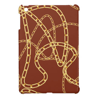 Goldene Ketten-Hintergrund 2 iPad Mini Hülle