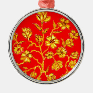 Goldene Kirschblüte-Kunst Silbernes Ornament