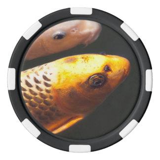 Goldene Koi Fische Poker Chips