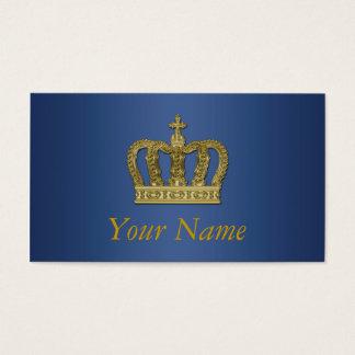Goldene königliche Krone II + Ihr backgr. u. Ideen Visitenkarte