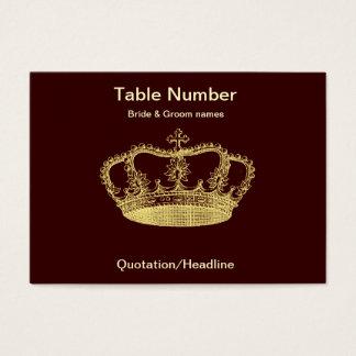 Goldene Kronen-Empfangs-Tabelle Placecard Visitenkarte