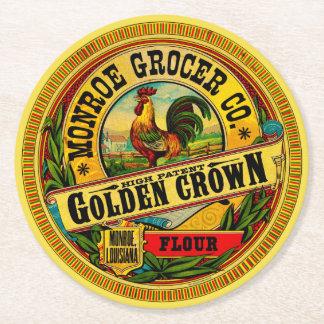 Goldene Kronen-hohes Patent-Mehl Runder Pappuntersetzer