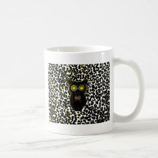 Goldene Leopard-Stellen mit Eule Kaffeetasse