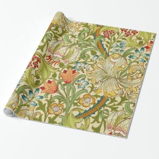 Goldene LilieVintager Pre-Raphaelite Williams Geschenkpapier