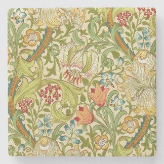 Goldene LilieVintager Pre-Raphaelite Williams Steinuntersetzer