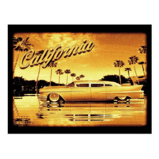 goldene Limousinenpostkarte Kaliforniens Postkarte