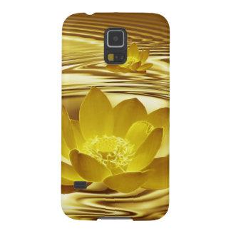 Goldene Lotos-Blume Samsung Galaxy S5 Cover