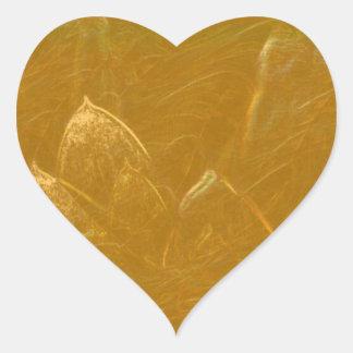 GOLDENE LOTOS Blumen-Blumen geprägt ADDIEREN Herz-Aufkleber