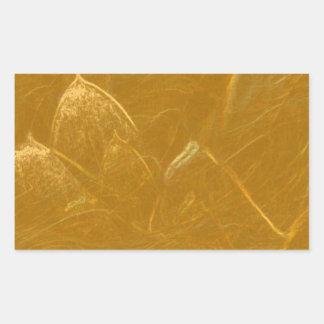 GOLDENE LOTOS Blumen-Blumen geprägt ADDIEREN Rechteckiger Aufkleber