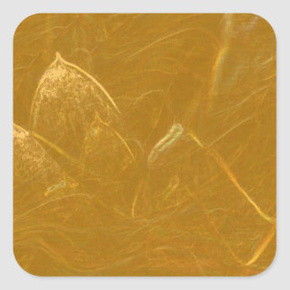 GOLDENE LOTOS-BLUMEN-DEKORATIVE GESCHENKE QUADRATISCHER AUFKLEBER