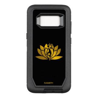 Goldene Lotos-Blumen-Yoga-Meditation cool OtterBox Defender Samsung Galaxy S8 Hülle