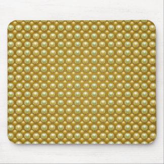 Goldene Luxusperlen Mousepads