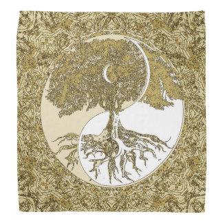 Goldene Mandala Yin Yang Halstücher