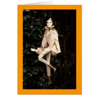 goldene Marionette Grußkarte