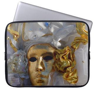 Goldene Maske - der Karneval von Venedig, Italien Laptopschutzhülle