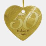 Goldene Metall-Blick Jahrestags-Verzierung Weihnachtsbaum Ornament