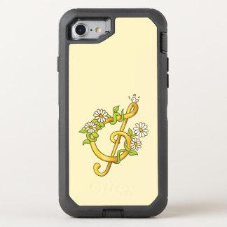 Goldene musikalische Anmerkung (GClef) OtterBox Defender iPhone 8/7 Hülle