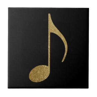 goldene musikalische Anmerkung Keramikfliese