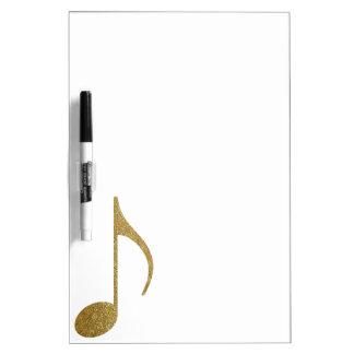 goldene musikalische Anmerkung Memo Board