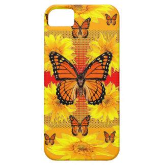 GOLDENE ORANGE MONARCH-SCHMETTERLINGE U. iPhone 5 ETUI