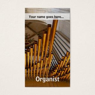 Goldene Orgelpfeifen Visitenkarte