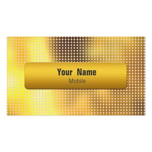 Goldene Paillette Visitenkarten