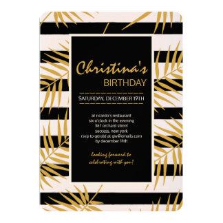 Goldene Palmen-Einladung 12,7 X 17,8 Cm Einladungskarte