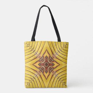 Goldene Palmwedel-Mandala Tasche