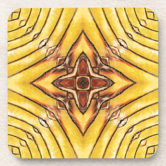 Goldene Palmwedel-Mandala Untersetzer
