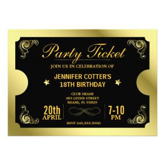 Goldene Party-Karte