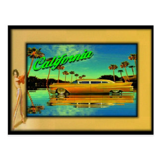 goldene Postkarte der Limousine 2011