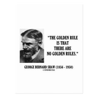 Goldene Regel G.B. Shaw kein Regel-Zitat Postkarte