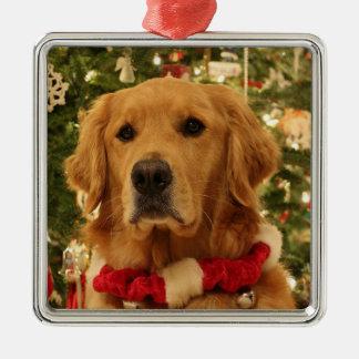 Goldene retreover Weihnachtsverzierung 2 Silbernes Ornament