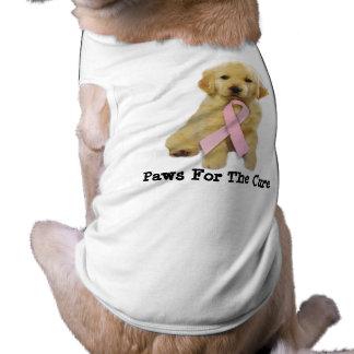 Goldene Retriver Brustkrebs-Haustier-Kleidung T-Shirt