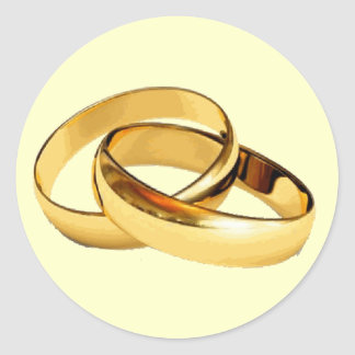 Goldene Ringe, die Einladungs-Umschlag Aufkleber
