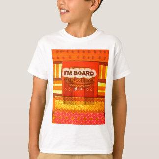 Goldene rote afrikanische traditionelle T-Shirt