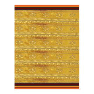Goldene Silk Gewebe-Schablone DIY addieren Postkarten