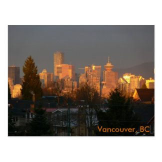Goldene Skyline, Vancouver BC Postkarte