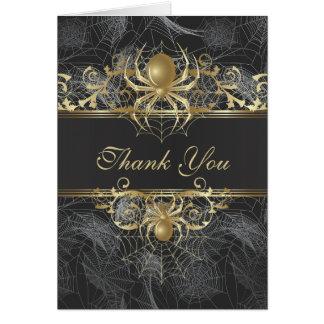 Goldene Spinne danken Ihnen Hochzeits-Karte Karte