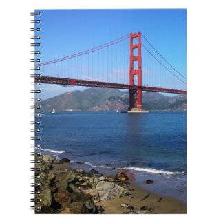 Goldene Staats-Brücke - San Francisco, Kalifornien Spiral Notizblock