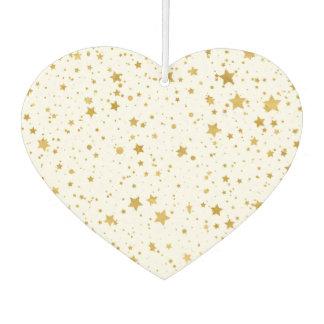 Goldene Stars2 - Reines Weißes Autolufterfrischer